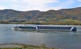 Cruise boat on the River Danube. Austria Stock Photo