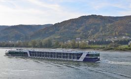 Cruise boat on the River Danube. Austria Royalty Free Stock Photos