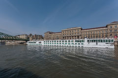 Cruise ship on Danube river in Budapest Stock Images