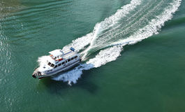 Cruise boat on sea Royalty Free Stock Photo