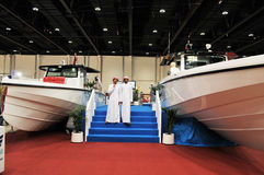 Cruise Boat show at Abu Dhabi International Huntin Stock Photography