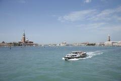 Cruise boat in Venice, Italy. Stock Photos