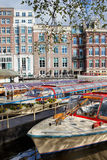 Cruise Boats in Amsterdam Stock Image