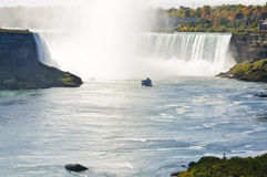 Cruise boats  nearby the Niagara falls Stock Images