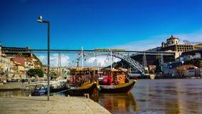 Cruise boats in Porto stock video