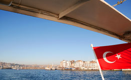 Cruise on Bosphorus strait, Istanbul royalty free stock photography