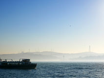 A cruise on Bosphorus Strait, Istanbul, Turkey stock photos