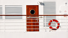 Cruise cabin. In ship travelling across the mediterranean Stock Photography