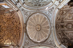Cruise of the Chapel of the Mosque of Cordoba. The Cruise of the Cathedral, which highlight the oval dome and the completion of the ship's Choir, is the best stock photo