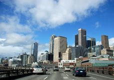 A Cruise through the City. Driving into downtown Seattle on a spring day Stock Image