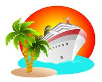 Cruise Clipart royalty free stock image