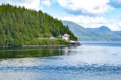 Canadian Inside Passage, coastal route of British Columbia, Canada royalty free stock image