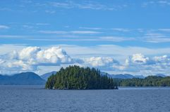 Inside Passage, Canadian coastal route of British Columbia, Canada stock image