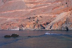 Cruise on Crete. South coast of island Crete, Greece Royalty Free Stock Photo