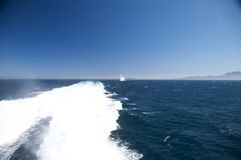 Cruise in de Straat van Gibraltar Stock Foto's