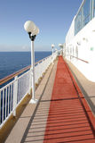 Cruise Deck. A view from the deck of a cruise ship Stock Photography