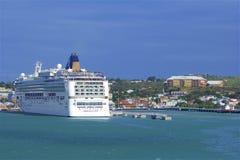 Cruise dock in St John`s, Antigua. Caribbean stock photo