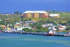 Cruise dock in St John`s, Antigua. Caribbean royalty free stock photo