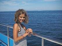 Cruise door Adriatische overzees royalty-vrije stock afbeelding