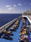 Cruise Dream - Sunbathing at sea! Stock Photography