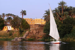 Cruise on Egyptian Felucca Royalty Free Stock Images