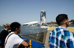 Cruise ferry in Amsterdam Royalty Free Stock Image