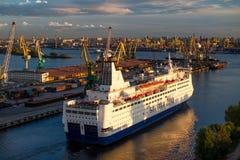 Cruise ferry Princess Anastasia at port of St. Petersburg. Stock Photos