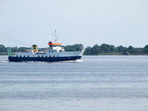 Cruise ferry ship sailing in calm water Royalty Free Stock Images