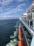 Cruise. Foreign luxury cruise sailing on the China stock image