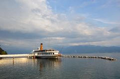 Cruise on the Geneva lake at Lausanne Royalty Free Stock Image