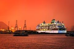 Cruise on Getxo port Stock Photos