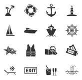 Cruise icons set Royalty Free Stock Photos