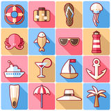 Cruise icons Stock Images