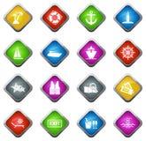 Cruise icons set Royalty Free Stock Image