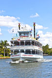 Cruise with jungle queen riverboat Royalty Free Stock Images