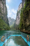 Cruise in Karst gorge Royalty Free Stock Image