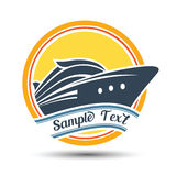 Cruise label. Cruise travel label , vector illustration royalty free illustration