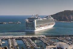 Cruise leaving the port of Cartagena stock photos