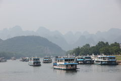 Cruise on the Lijiang river, China. Cruise on the Lijiang river, Guilin - China Royalty Free Stock Images