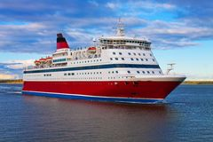 Cruise liner. Big cruise liner in the Baltic sea Stock Image