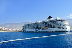 Cruise liner. In Alanya Turkey stock photography