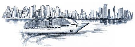 Cruise liner royalty free illustration