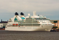 Cruise Liner. Moored cruise ship to berth quay in St. Petersburg Royalty Free Stock Images