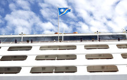 Cruise liner. A cruise liner sailing under Marshall Island flag royalty free stock photo