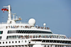 Cruise liner. Cruise nautical tourist liner in the by-pass canal of Venice Royalty Free Stock Photos