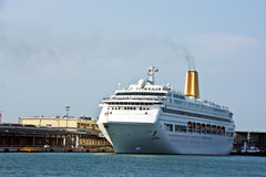 Cruise liner. Cruise nautical tourist liner in the by-pass canal of Venice Stock Photography