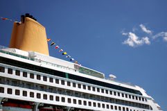 Cruise Liner. Decks and funnels Stock Images