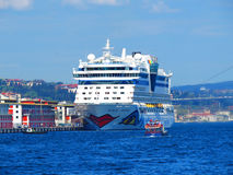 Cruise liner AIDA in Bosporus Stock Photo