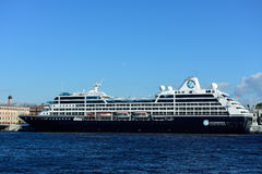 Cruise liner Azamara Quest in St. Petersburg, Russia Royalty Free Stock Images