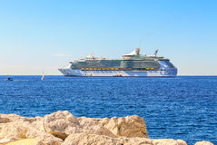 Cruise liner in Cannes Stock Image